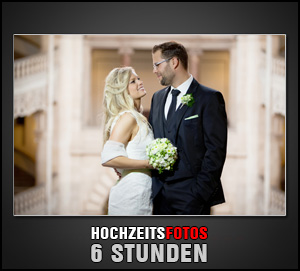 6 Stunden fotografischer Begleitung Ihrer Hochzeit